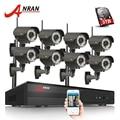 ANRAN macho y 8CH NVR WIFI CCTV SISTEMA DE P2P 1080 P H.264 HD Zoom 2,8mm-12mm lente de cámara IP inalámbrica Kit