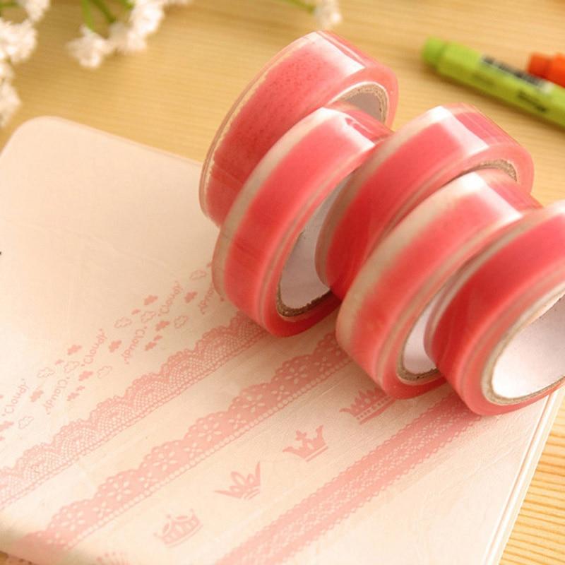 DIY Transparent Lace Washi Tape Masking Tape For Scrapbooking Photo Album Home Decoration Roll Tape Decorative Scotch Tape