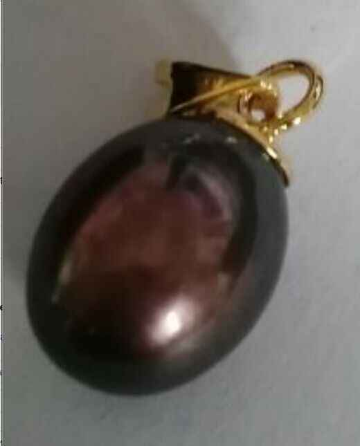 Colgante de Perla Negra y roja tahitiana de 9,9mm KGP