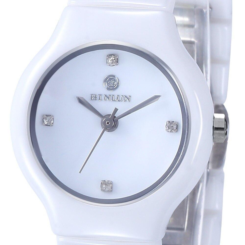 Skgen женские белые керамические кварцевые часы Роскошные наручные часы для женщин Повседневное платье relojes para mujer SKW2300 - 5