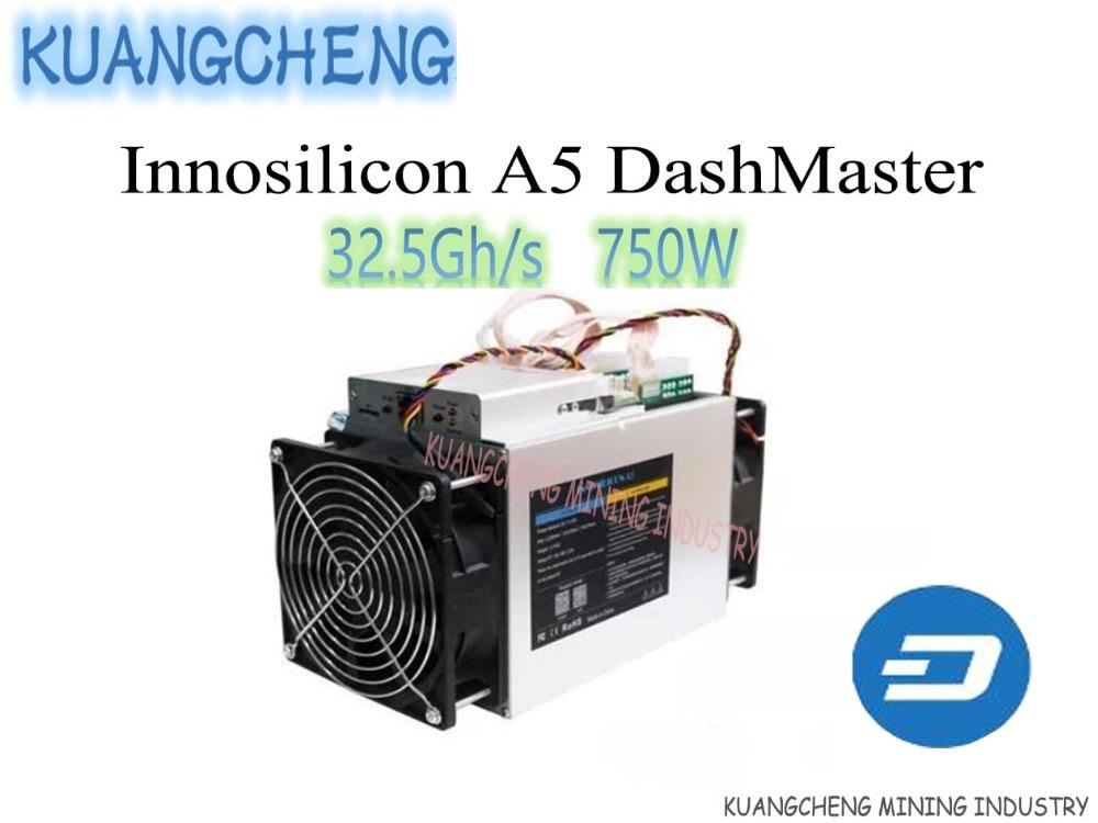 KUANGCHENG Innosilicon A5 DashMaster 30.2Gh/S 750W AISI Chip Dashcoin Mining Machine