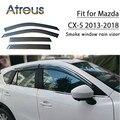 Atreus 1 セット ABS 2018 2017 2016 2015-2013 マツダ CX-5 CX5 アクセサリーカーベント太陽偏向器ガード煙窓雨バイザー