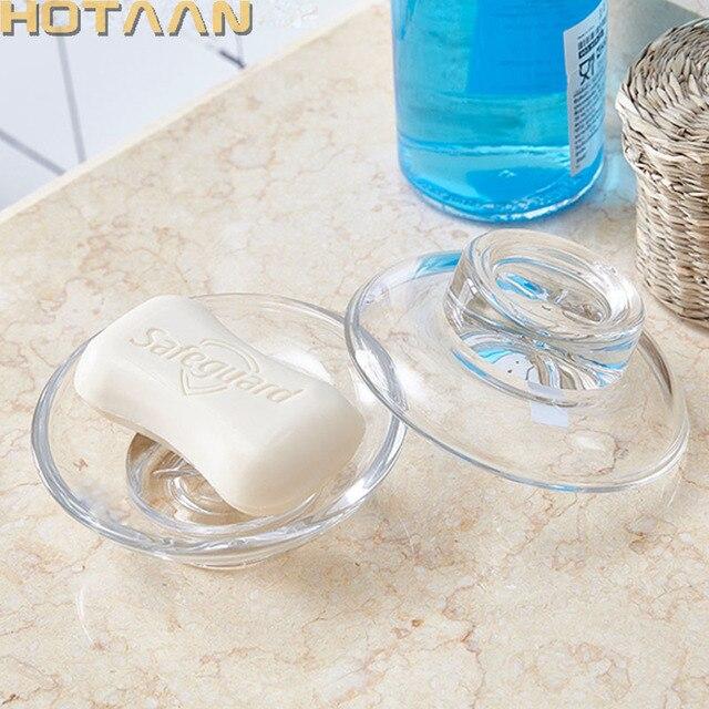 Solid, transparant glas zeepbakje badkamer accessoire, badkamer ...