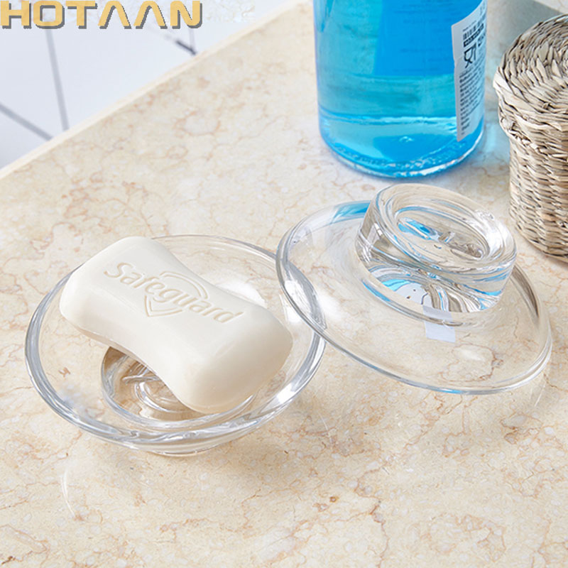 Solid ,transparent glass soap dish bathroom accessory,bathroom soap dish, matte glass soap dish,Free shipping,YT-7101 draining soap dish with lid