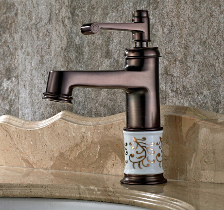 New arrival Europe style high quality sink faucet brass hot and cold black ORB single lever basin faucet bathroom sink tap