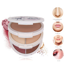 Rouge cream 5 color blusher disk nude makeup repair face moisturizing facial makeup tools