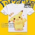 Fashion Children Boys Girls T Shirt for Kids Pokemon PIKACHU  Short Sleeves Cartoon Printed Kawaii Cute Lovely Tshirt