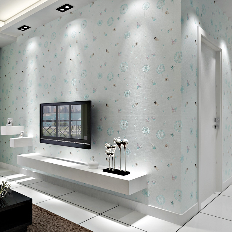 Modern Romantic Wall Papers Home Decor 3 d Free Dandelion Wallpaper for Walls Non Woven Wallpaper Roll for  Girls Bedroom