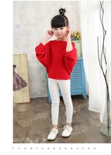 2018 autumn children's clothes girls knitted sweaters solid thin girl bat sweaters for girls big kids pullovers sweater