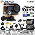 Оригинал ЭКЕН H8/H8R Действий Камеры VR360 Ультра 4 К/30fps Двойной ЖК Mini Cam Водонепроницаемая Камера Спорта gopro hero 4 стиль