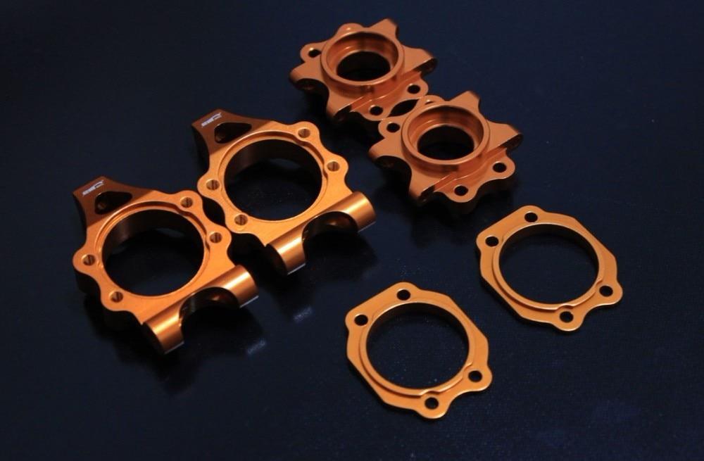 baja 5b Alloy rear hub carrier set (orange color) hub carrier set for baja 5b 5t 5sc orange color