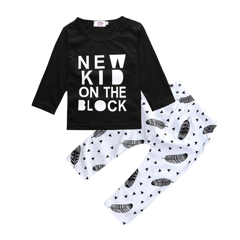 Autumn Infant Boy Clothing Sets Cartoon Newborn Baby Boy Clothes Set Cotton Baby Sets Long Sleeve Tops+Pants Infant Clothing