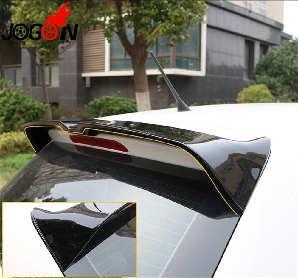 Accessories High Quality ABS Material Car Rear Wing Rear Wing Prim Rear Spoiler Wing Trunk Lip For VW POLO MK5 2010 2018