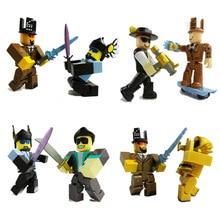 6pcs / set Roblox איור jugetes 2018 7cm PVC משחק פיגורס Roblox בנים צעצועים למשחק רובלוקס