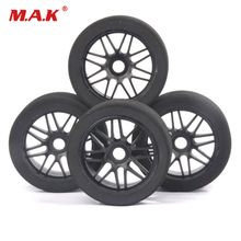 1/8 RC Foam Tires Wheel Rims 105mm Set 17mm Hex For HSP HPI Racing Car 4pcs set rc parts 12mm hex bead loc short course ruber tire rims for hpi hsp rc 1 10 traxxas slash