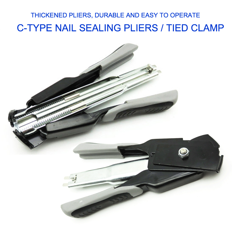 Mini Handheld C-nail Supermarket Sealing Pliers Animal Husbandry Cage Binding Tool, High Quality Forged Steel