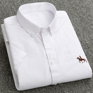 Image 5 - جديد S إلى 6xl قصيرة الأكمام 100% القطن أكسفورد لينة مريحة منتظم صالح حجم كبير جودة الصيف رجال الأعمال قمصان غير رسمية
