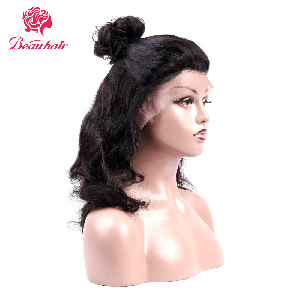 Beau Hair human hair wigs natural color Body Wave 14 inch lace front human hair wigs Non-Remy Hair Extension free shipping