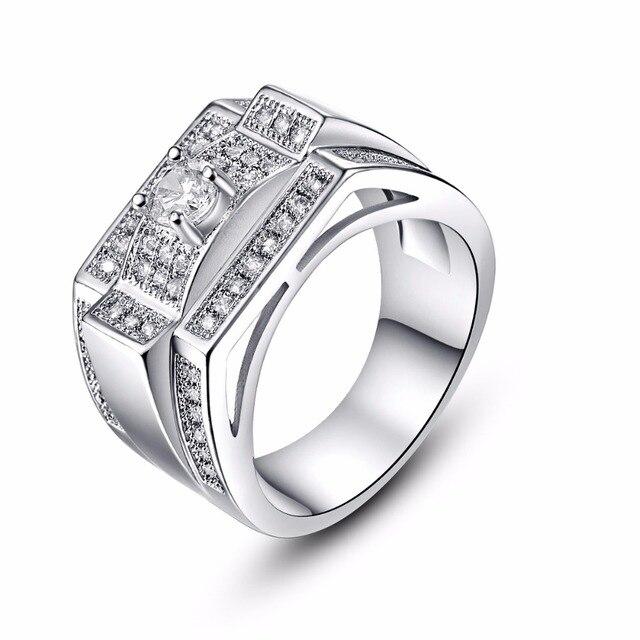 Vintage Einzigartige Design Cz Stein Ring Hochzeit Band Silber Ringe