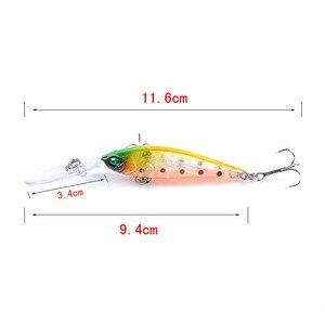 Image 5 - 6 個釣りルアークランクベイトミノー Wobblers 6 色ハード餌釣具 3D 目 Isca 人工ペスカ 94 ミリメートル 6.2 グラム