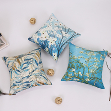 Faced European Classical Art Sofa Pillow Cushion Without Core Living Room Van Gogh Star Apricot Flower Oil Back