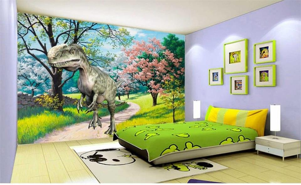 Custom 3D Photo Wallpaper Kids Room Mural King Dragon Garden 3D Photo HD Painting Bedroom Sofa TV Background Non-Woven Wallpaper