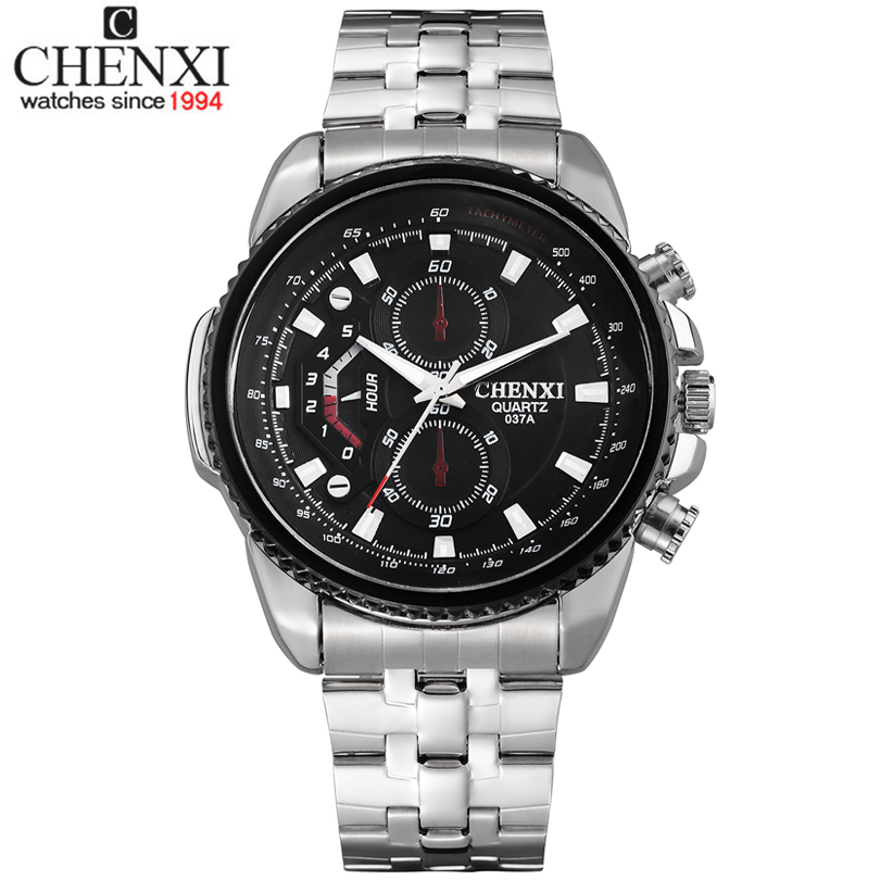 Top Sale ! Chenxi Brand Men Sports Watches Full Steel Fashion Wristwatches Reloj Relojes Casual Watch