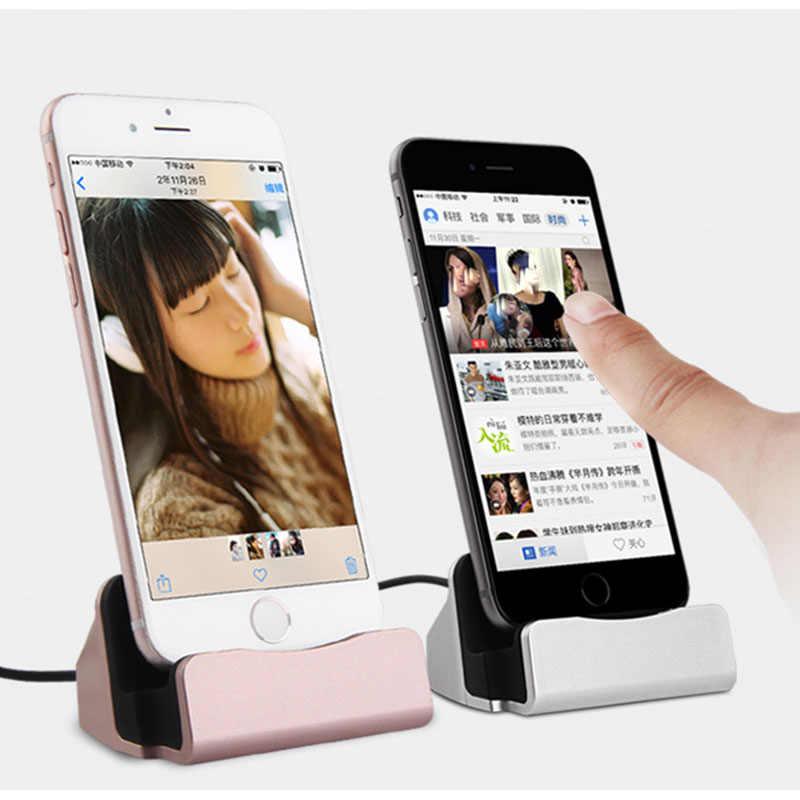 ZENHEOโทรศัพท์มือถือสำหรับชาร์จDockสำหรับiPhone 5 6 6วินาที7พลัสสถานีสก์ท็อปD Ockingชาร์จซิงค์ข้อมูลสายUSBชาร์จ