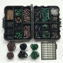 Bobing Assorted Carp Fishing Accessories Tackle Box Mixed Fishhooks Rubber Tubes Swivels Beads Sleeves All-in-one Combo Set