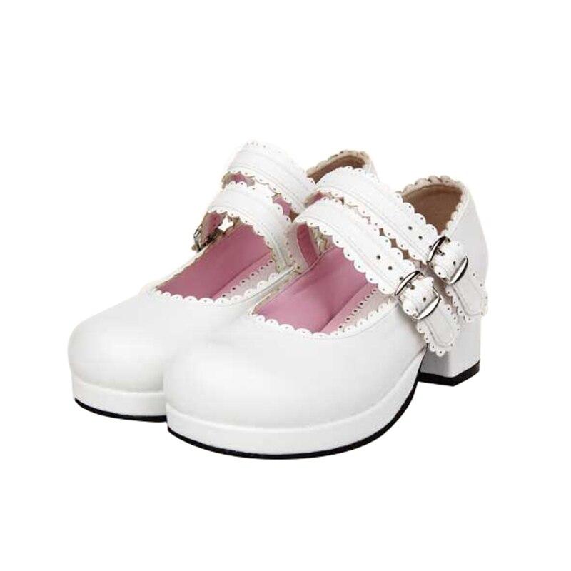 Merletti 5cm Talloni Medio 4 Dress Ragazza 33 Party Delle Mori Donna Lolita 2 Pompe Scarpe Cosplay Lady Della 4 Impronta 5cm Angelic Shoes 47 Donne Principessa 5cm qzfRpnSR