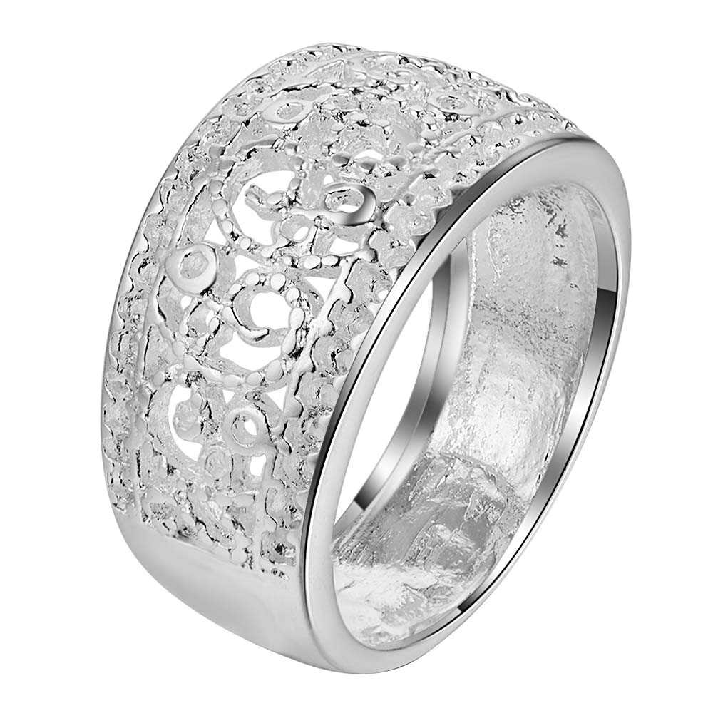 arabesquitic delicate Silver plated Ring Fashion Jewerly Ring Women&Men , /DQXLZQUP AQNP ...