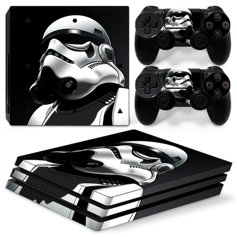 Star Wars Stormtrooper Vinyl Cover Decal For PS4 Pro Skin Sticker for Sony PlayStation 4 Pro Console 2 Controllers Skins