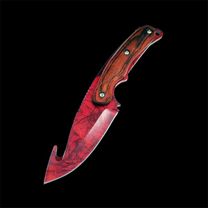 Image 5 - Real Tiger Tooth knife CS GO Gut Knifes Counter Strike Tactical Straight Hunting Knives Camping sheath survival colored knife