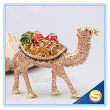 100% Pewter Enamel Camel Trinket Box Jewelry Box
