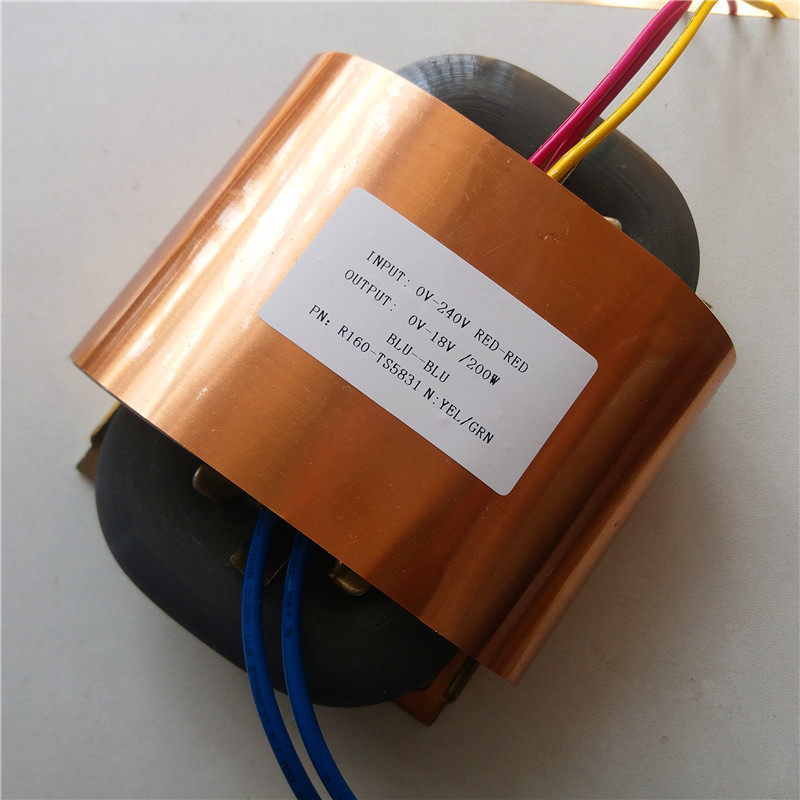 18V 11A R Core Transformer 200VA R160 custom transformer 240V copper shield Power supply amplifier