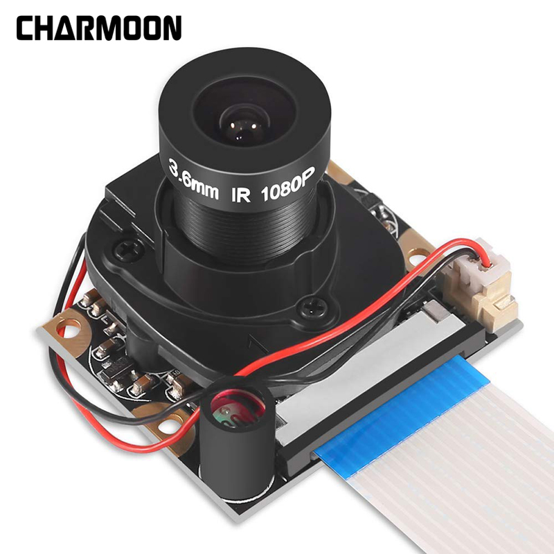 For Raspberry Pi Camera Module With Automatic IR-Cut Night Vision Camera 5MP 1080p HD Webcam For Raspberry Pi 4b 3 Model B+