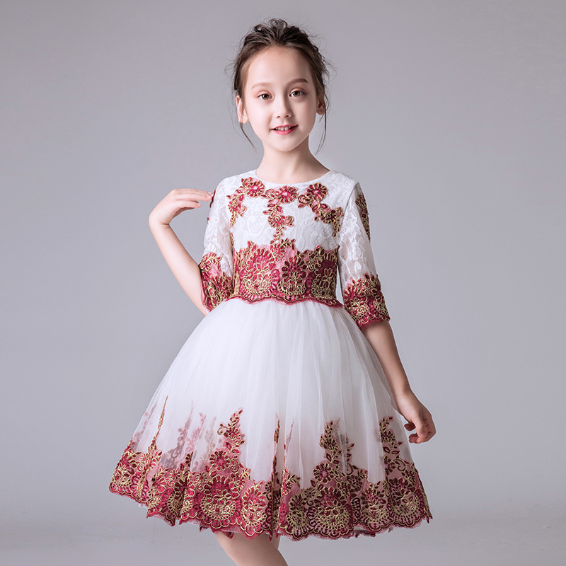 Hot-sales Girl Baby Birthday Wedding Party Princess Lace Flowers Dress Little Kids Ceremony Dress Beauty Christening Gown DressHot-sales Girl Baby Birthday Wedding Party Princess Lace Flowers Dress Little Kids Ceremony Dress Beauty Christening Gown Dress