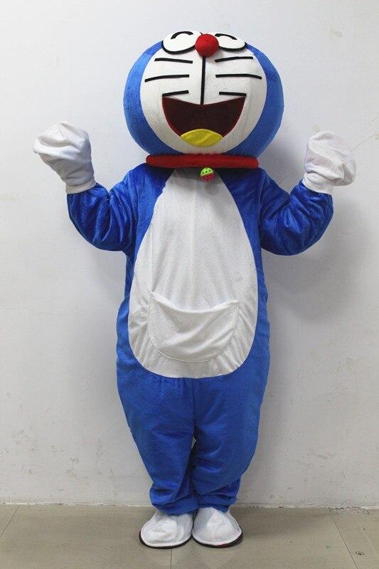 Super High Quality Adult Doraemon Mascot Costume Robocat Mascot Costume Doraemon Fancy Cosplay Dress Costumes