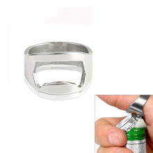2017 kitchen useful tool  1PCS Stainless Steel Finger Thumb Ring Bottle Open Opener Bar Beer Tool Gifts  #0801 B
