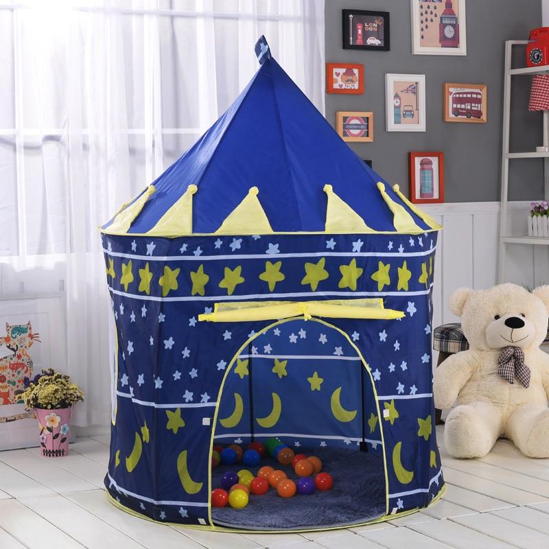Oyuncak çadır sıcak büyük pembe ve mavi kale oyuncak çadır ev - Kamp ve Yürüyüş - Fotoğraf 4