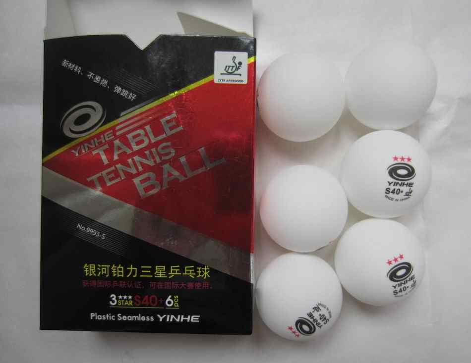Oryginalny Yinhe drogi mlecznej S40 + piłka do tenisa stołowego 3 gwiazdki nowy materiał bez szwu oficjalna piłka dla rakietki do tenisa stołowego gry
