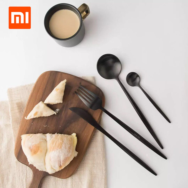 4Pcs Xiaomi Ecological Chain Maision Maxx Stainless Steel Table ware 4 Kit Knife Spoon Fork Tea-spoon