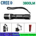 Факел Cree L2 Фонарик Лампы Самообороны LED Вспышка Света мощный Тактические Аварийного Оборонительных факел + 1 батарея + 2 зарядное устройство