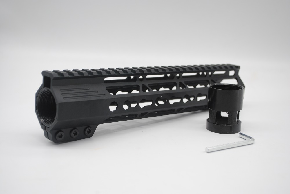 New Style Clamping Rail Mount 9'' inch Length Slim Free Floating System Key Mod Handguard Fit .223 Rilfe Free Shipping usb dual shock wired controller for sony playstation 3 ps3 ps3 slim black blue
