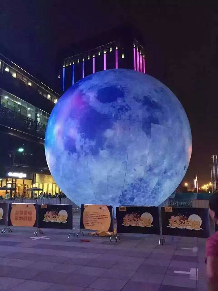 inflatable moon ball  diameter Artificial moon simulation moon included LED, air pump, use for Big Party,festival celebration ao058m 2m hot selling inflatable advertising helium balloon ball pvc helium balioon inflatable sphere sky balloon for sale