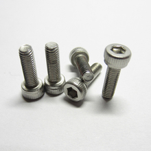 цена на 20/10PCS M2.5 M3/M4/M5/M6 DIN912 304 Stainless Steel Hexagon Socket Head Cap Screws Inner Hex Socket Bicycle Bolt Metric Thread