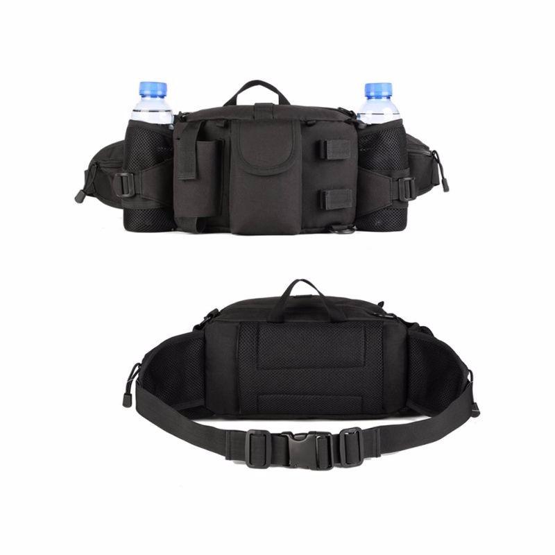 black multi pouch waist pack
