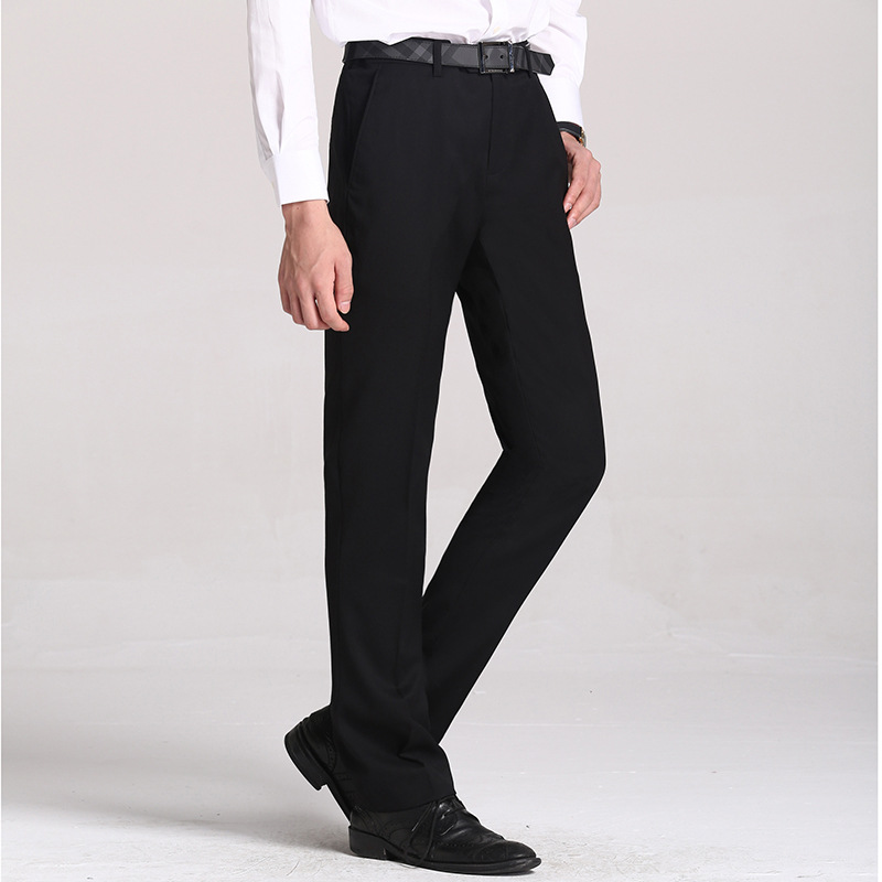 Size 29 40 Easy Care Workwear Black Pants Business Pants For Men Slim Fit Formal Trousers Mens ...