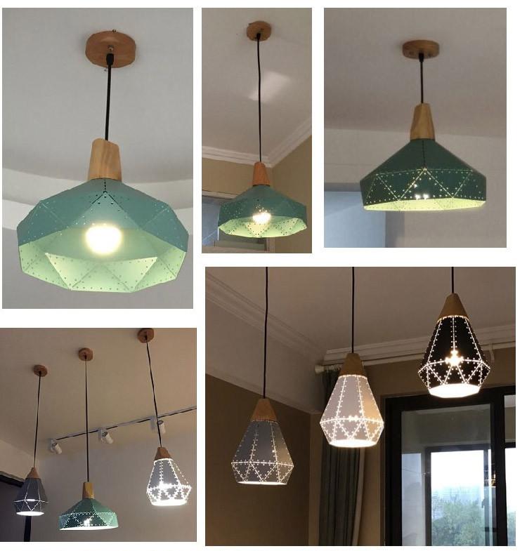 Nordic Loft Industrail Laser Cutting Home Pendant Lamps Lighting Modern Scandinavian Design Wood Hanging Light For Living Room9