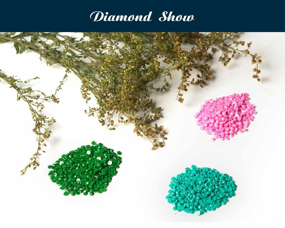 5 paneles el árbol de Navidad y la casa de nieve 5d diamante pintura 5d diamante bordado spuare y pintura redonda Cruz stitchsets